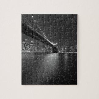 Schwarz-weißer New York CitySkyline Puzzle