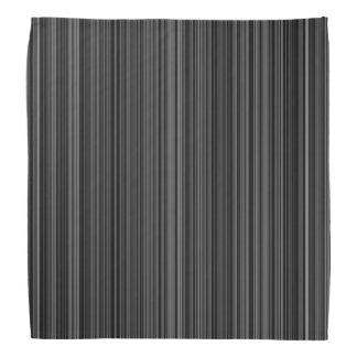 Schwarz-weißer retro Bandana Streifen des Halstuch