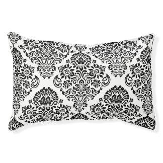 Schwarz-weißer stilvoller eleganter haustierbett