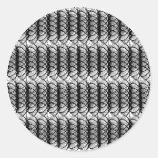 Schwarz-weißer Strudel-Muster-Aufkleber Runder Aufkleber