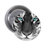 Schwarz-weißer Tiger Anstecknadel