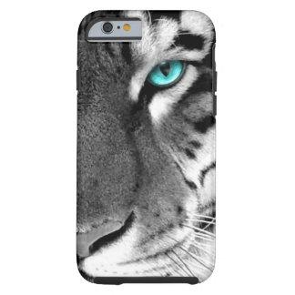 Schwarz-weißer Tiger Tough iPhone 6 Hülle