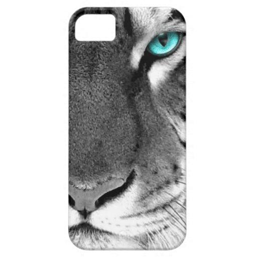 Schwarz-weißer Tiger iPhone 5 Hülle