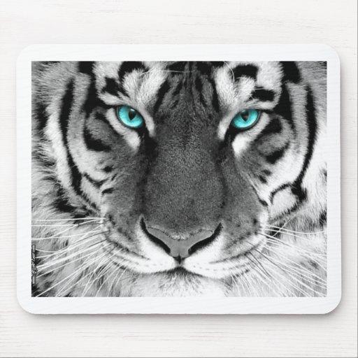 Schwarz-weißer Tiger Mauspads
