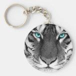 Schwarz-weißer Tiger Schlüsselbänder