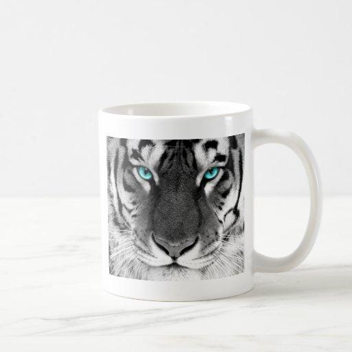 Schwarz-weißer Tiger Kaffee Tassen