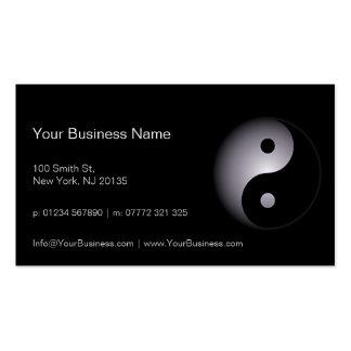 Schwarz-weißer Yin Yang beruflich - Visitenkarten