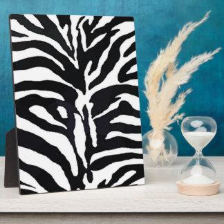 Schwarz-weißer Zebra-Druck Fotoplatte