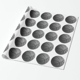 Schwarz-weißes Basketball-Verpackungs-Papier Geschenkpapier