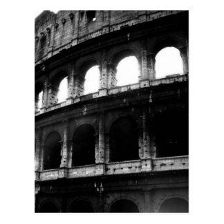 Schwarz-weißes Colosseum römisches Reich Postkarte