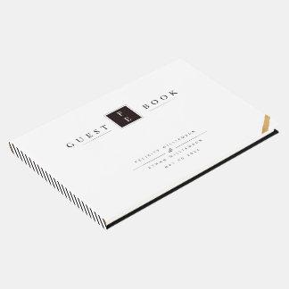 Schwarz-weißes Gästebuch