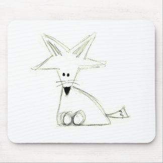 Schwarz-weißes graues einfaches Kinderzeichnen des Mousepad