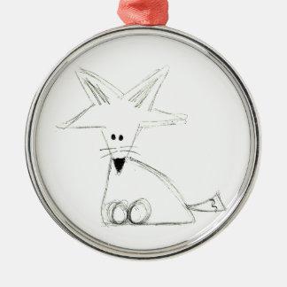 Schwarz-weißes graues einfaches Kinderzeichnen des Silbernes Ornament