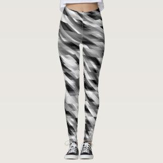 Schwarz-weißes graues Muster Leggings