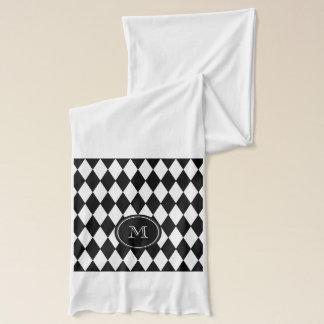 Schwarz-weißes Harlekin-Muster, Ihre Initiale Schal