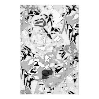 Schwarz-weißes Marmorierungabstraktes Briefpapier