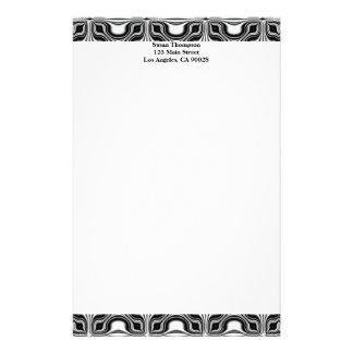 Schwarz-weißes Muster Büropapiere