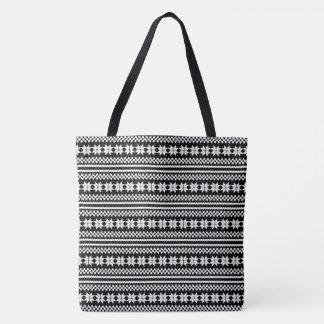 Schwarz-weißes norwegisches tasche