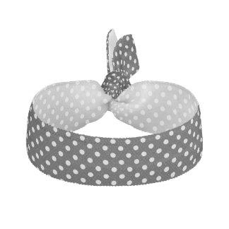 Schwarz-weißes Polka-Punkt-Muster Haarschleife