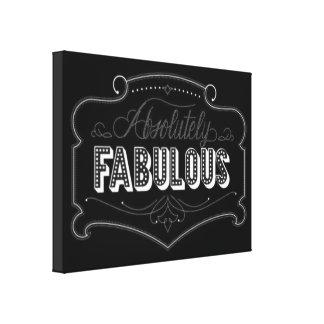 Schwarz-weißes Zitat-Girly fabelhafte Gespannte Galerie Drucke