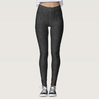Schwarze abstrakte Mustergamaschen und Yogahosen Leggings