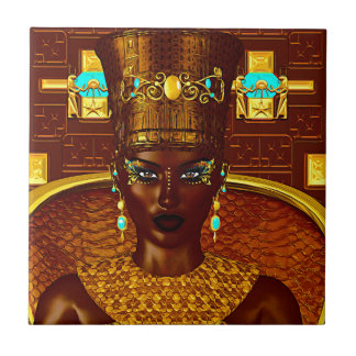 Schwarze ägyptische Prinzessin in unserer modernen Keramikfliese