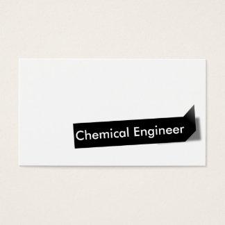Schwarze Aufkleber-Chemieingenieur-Visitenkarte Visitenkarte
