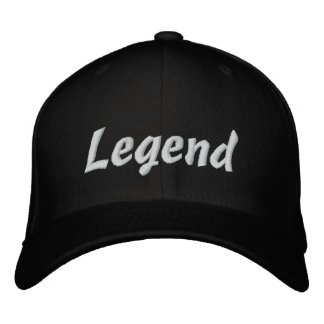 Schwarze Baseballmütze der Legende Bestickte Baseballkappe