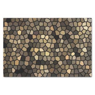 Schwarze, beige und braune Mosaiken Seidenpapier