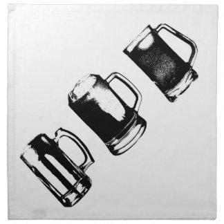 Schwarze Bier-Tassen-Silhouette // Stoffserviette