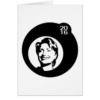 schwarze Blase Hillary Clinton Grußkarte