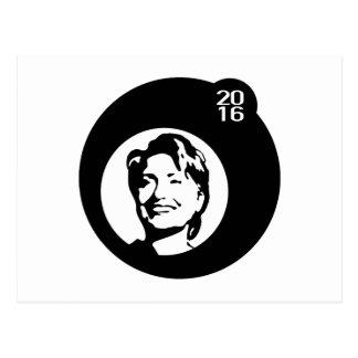 schwarze Blase Hillary Clinton Postkarten