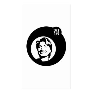 schwarze Blase Hillary Clinton Visitenkarten