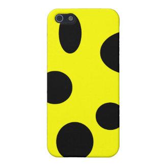 Schwarze Blasen auf Gelb Schutzhülle Fürs iPhone 5