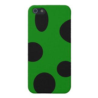 Schwarze Blasen auf Grün iPhone 5 Etui