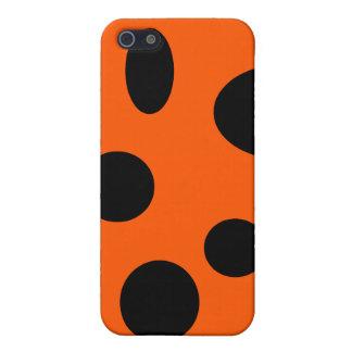 Schwarze Blasen auf Orange iPhone 5 Etuis