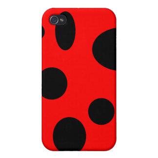 Schwarze Blasen auf Rot iPhone 4 Case