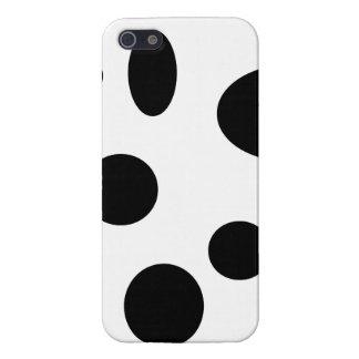 Schwarze Blasen auf Weiß Hülle Fürs iPhone 5