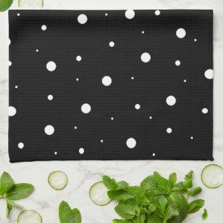 Schwarze Blasen Handtuch
