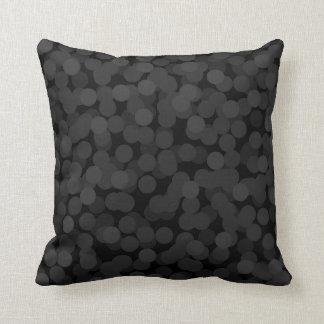 Schwarze Blasen-Kissen