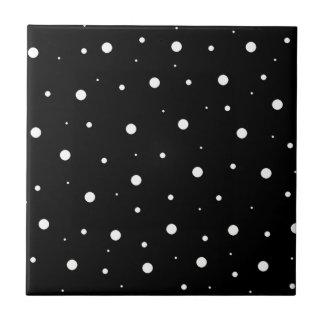 Schwarze Blasen Kleine Quadratische Fliese
