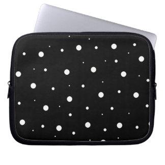 Schwarze Blasen Laptop Schutzhülle