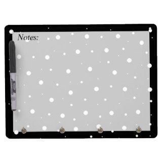 Schwarze Blasen Memo Board