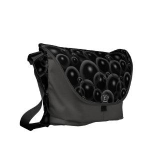 Schwarze Blasen Kurier Taschen