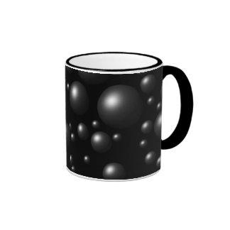 schwarze Blasen Kaffeetasse