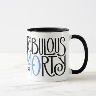 Schwarze blaue Tasse fabelhafte 40