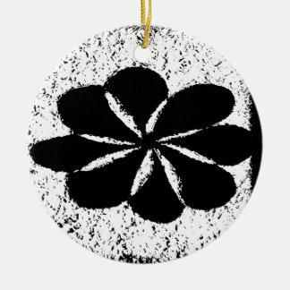 schwarze Blume Keramik Ornament