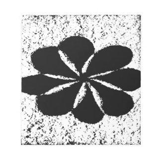 schwarze Blume Notizblock