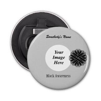 Schwarze Blumen-Band-Schablone durch Kenneth Flaschenöffner