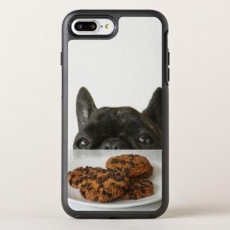 Schwarze Brindle französische Bulldogge OtterBox Symmetry iPhone 8 Plus/7 Plus Hülle